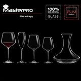 Masterpro Witte Wijnglazen 390ml - Kristalglas - 2 stuks_