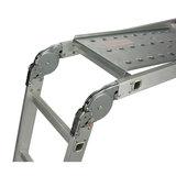 Alu-Werkladder met werkplatform - 4x3 treden_