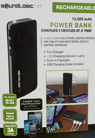 Soundlogic Power bank voor 3 apparaten (12,000mAh) met zaklamp