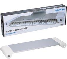 Space Bar Desk Organizer met 4 USB-laadpunten