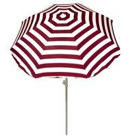 Summertime Parasol 180 cm Rood/Wit