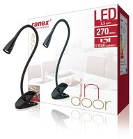 Ranex Cora LED Clip Bureaulamp 3.5W Zwart