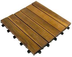 Terrastegels 4 stuks - 30x30cm acaciahout