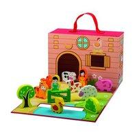 Simply For Kids Boerderij met Houten Dieren 12-delig
