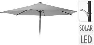Parasol met verlichting - 270cm - licht grijs