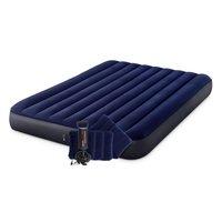 Intex 64765 Classic Downy Airbed + Kussens en Pomp 152x203x25 cm