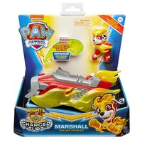 Paw Patrol Mighty Pups Charged Up Marshall + Voertuig + Licht en Geluid