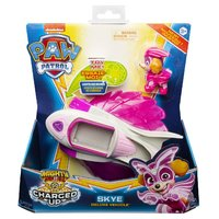 Paw Patrol Mighty Pups Charged Up Skye + Voertuig + Licht en Geluid