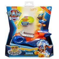 Paw Patrol Mighty Pups Charged Up Zuma + Voertuig + Licht en Geluid
