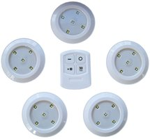 Draadloze LED-lampen - 5 spots met afstandbediening