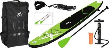 XQ Max SUP Board Set - Opblaasbaar - 305x71x10cm - lime