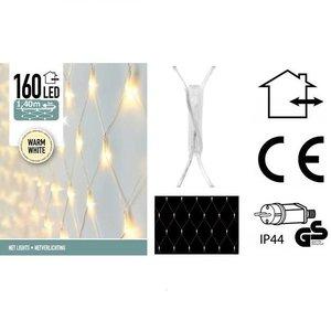 Netverlichting 160 LED's 140 x 100 cm warm wit