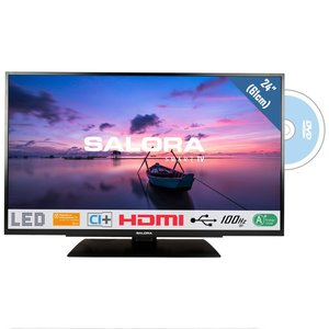Salora 24HDB6505 HD LED-TV met Ingebouwde DVD-Speler 61 cm Zwart