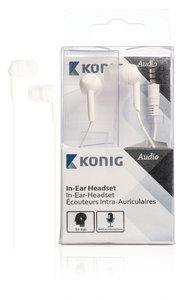 König CSHSIER300WH In-ear Headset Wit