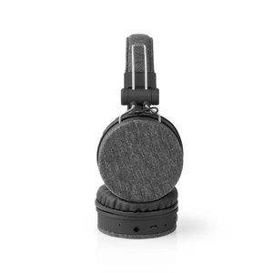 Nedis FSHP250AT Bluetooth®-koptelefoon Met Geweven Stof Bekleed On-ear |18 Uur Afspeeltijd Antraciet / Zwart