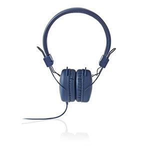 Nedis HPWD1100BU Hoofdtelefoon Met Snoer On-ear Opvouwbaar 1,2 M Ronde Kabel Blauw