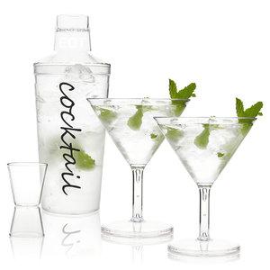 Cocktail mixer set 4 delig