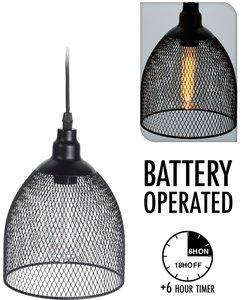 Hanglamp - draad - met timer - bolvorm