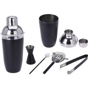 Cocktailshakerset - 5 delig - mat zwart
